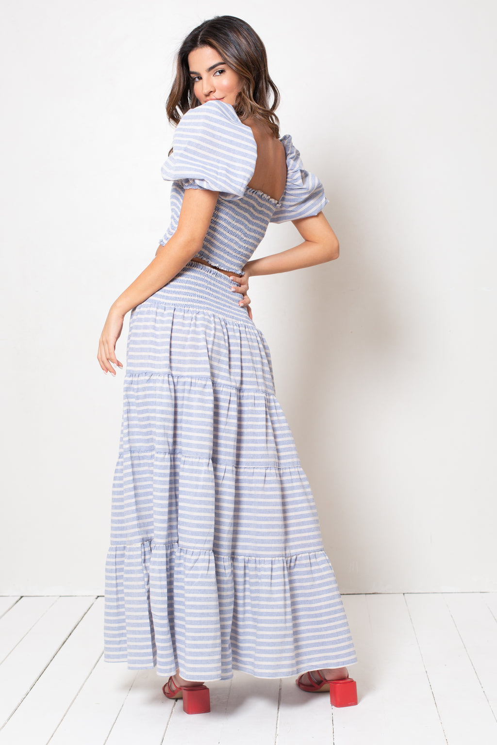 Falda Kaia Strippy Sky