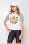 Remera Baseball Tigre Blanc Grey