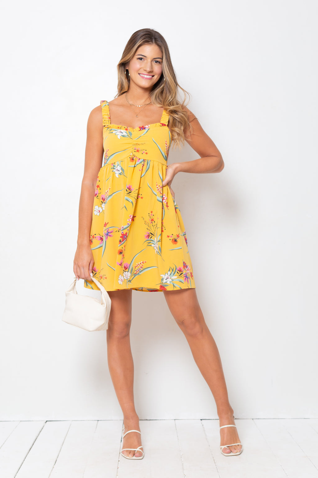 Vestido Federica Yellow Palm