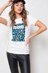 Remera Long Cheetah Cyan