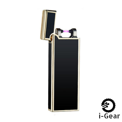 i-Gear Ultra Thin Electric Arc Lighter - Black Gold