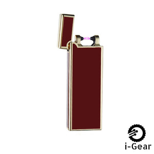 i-Gear Ultra Thin Electric Arc Lighter - Burgandy Gold