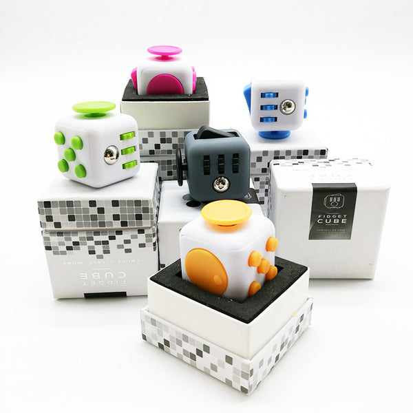 iFidget Cube - Ultimate Stress Reliever Aide (Dual Colors)