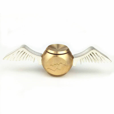 Golden Snitch Brass Cupid Fidget Spinner