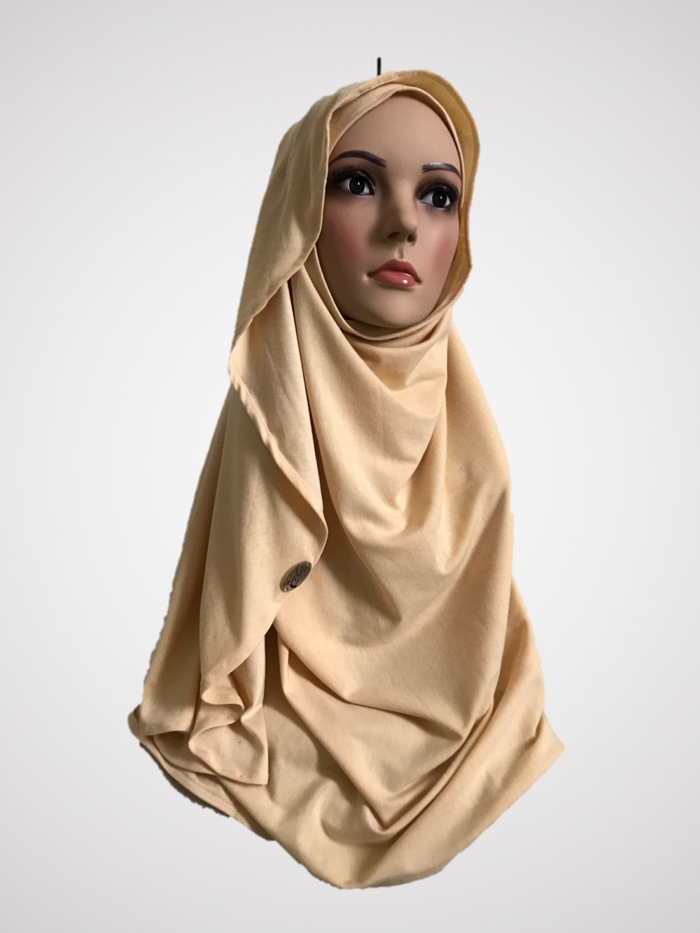 Sand dollar creme stretched (COT) instant hijab CF