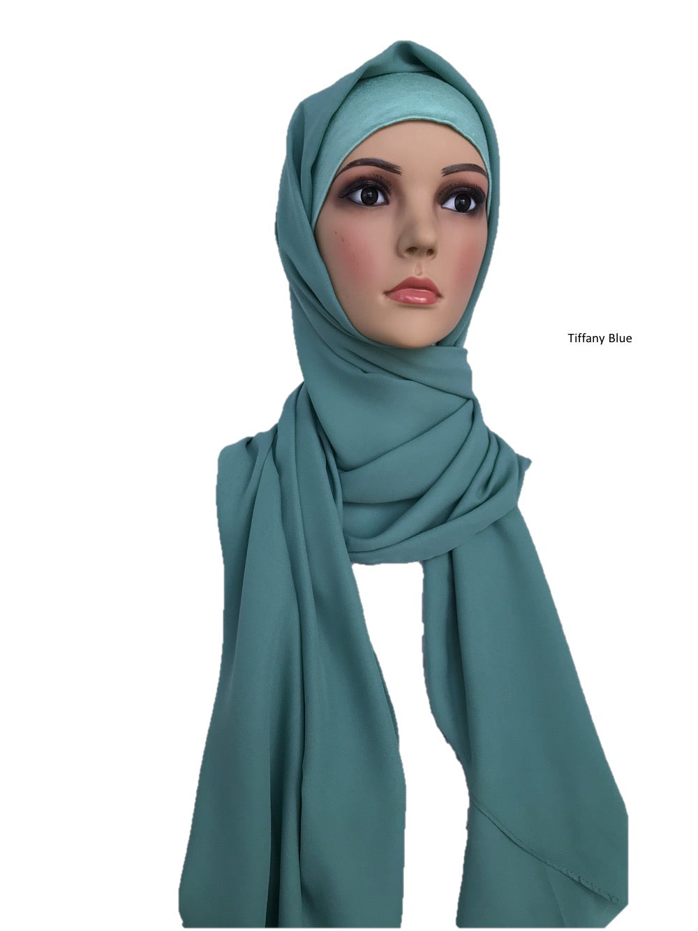 Turban Shawl in Tiffany Blue