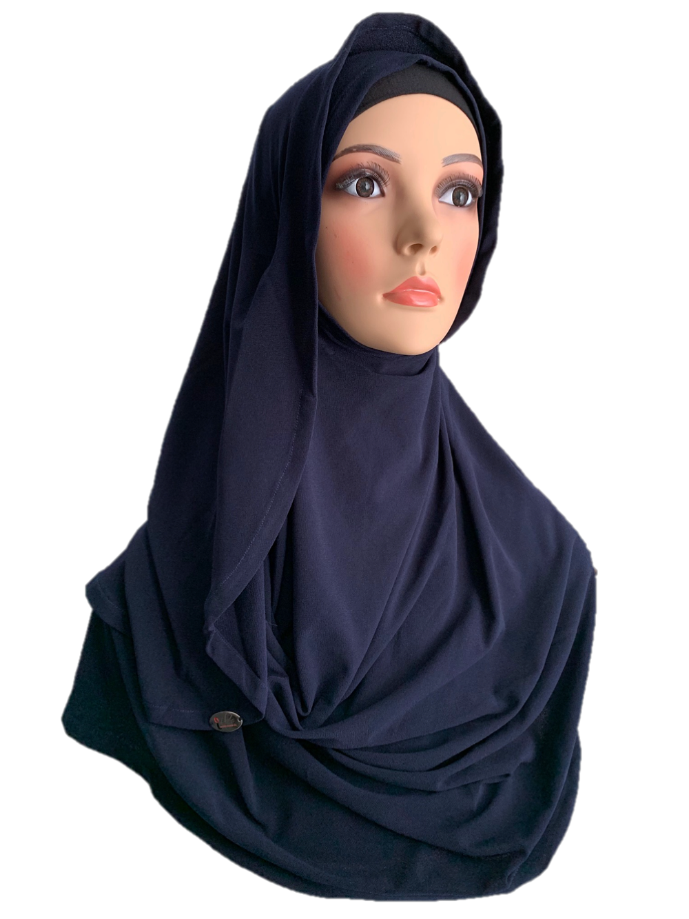 Federal Blue stretchy (COM) instant hijab CF