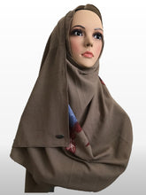 Big flower coffee instant hijab