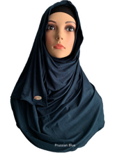 Prussian Blue stretchy (COT) instant hijab SF