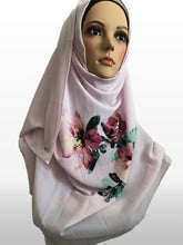 Big Flower baby pink instant hijab