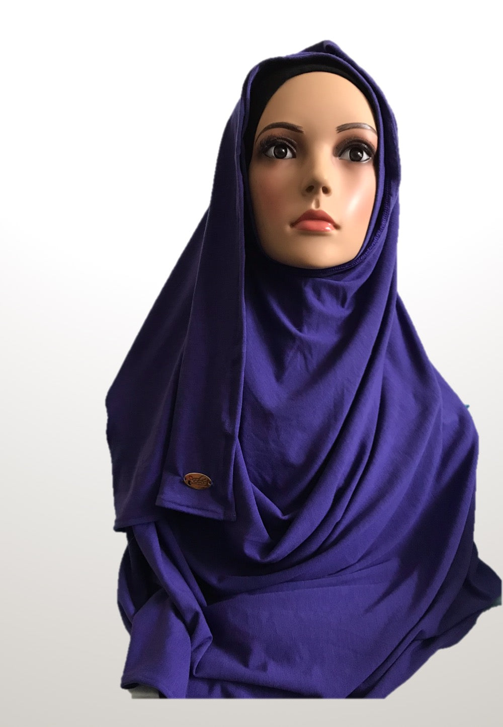 Iris blue stretchy (COT) instant hijab SF