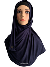 Oxford Blue stretchy (COT) instant hijab SF