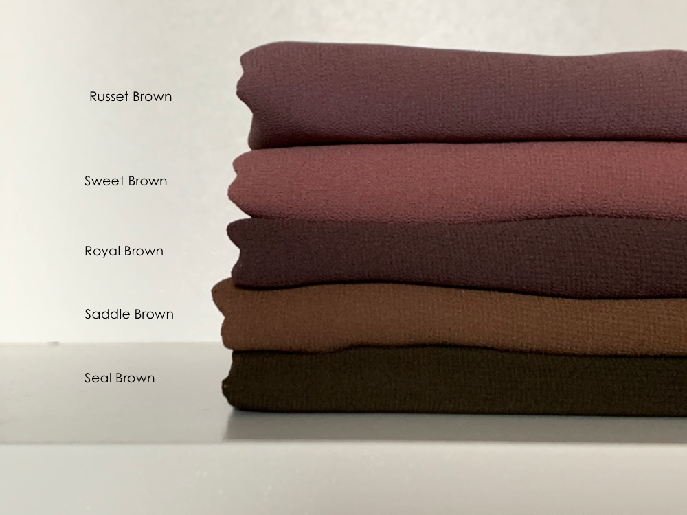 Limited Edition Plain Full-Instant Chiffon Browns