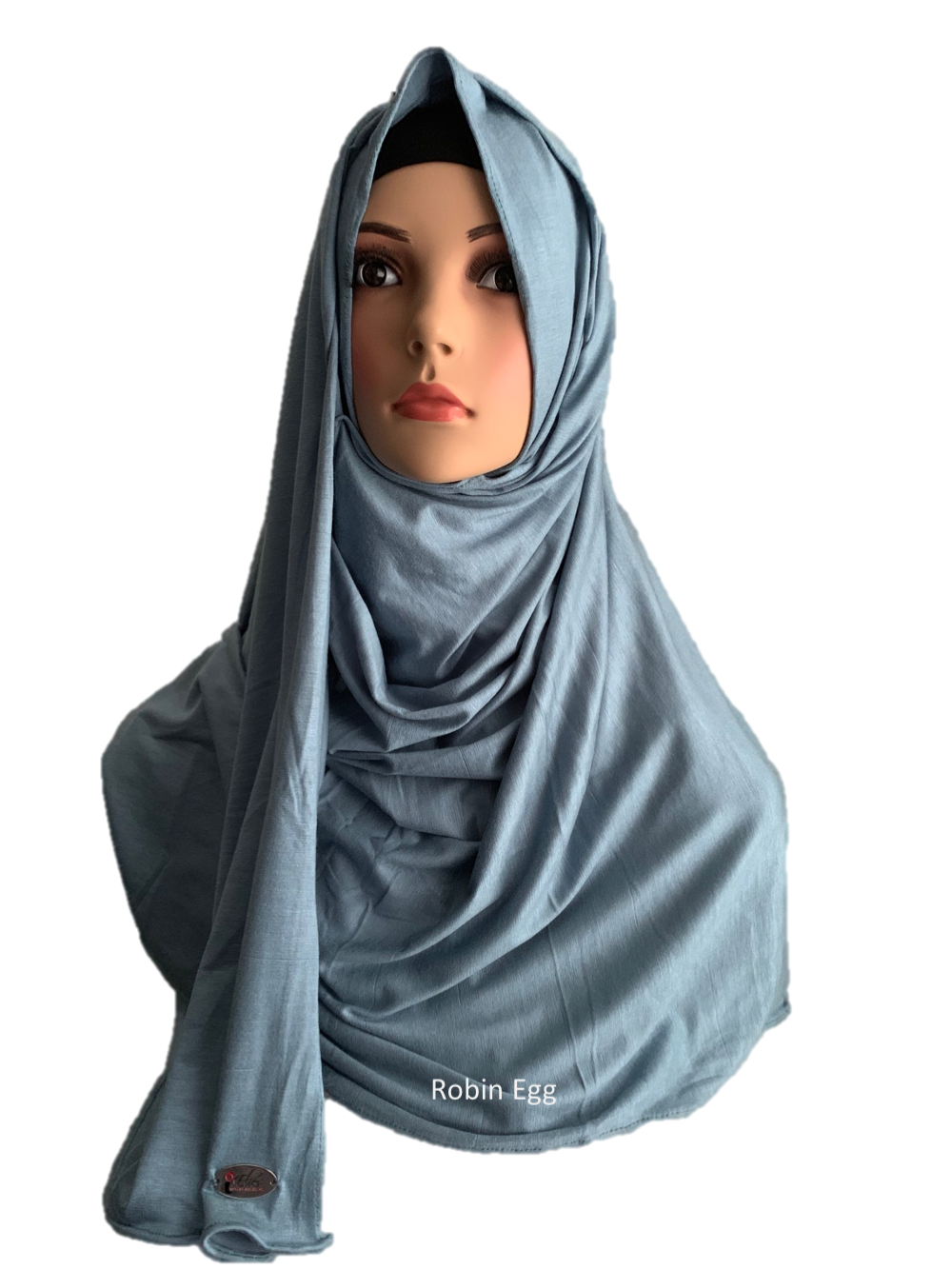 Robin Egg stretchy (COT) instant hijab SF