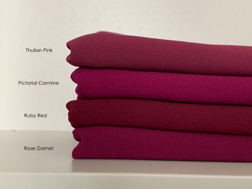 Limited Edition Plain Full-Instant Chiffon Maroons