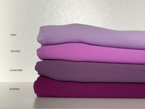 Limited Edition Plain Full-Instant Chiffon Purples