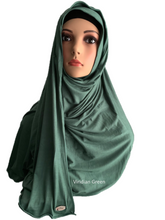 Viridian Green stretchy (COT) instant hijab SF