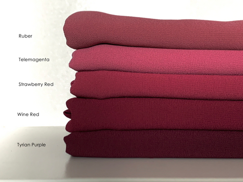 Limited Edition Plain Full-Instant Chiffon Rubies