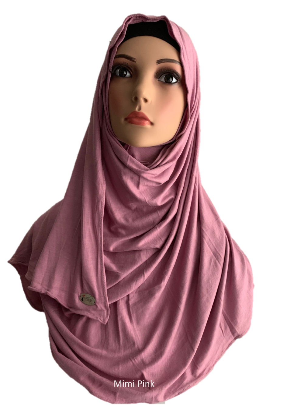 Mimi Pink stretchy (COT) instant hijab SF