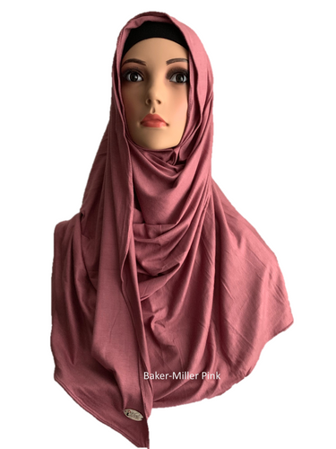 Baker-Miller Pink stretchy (COT) instant hijab SF