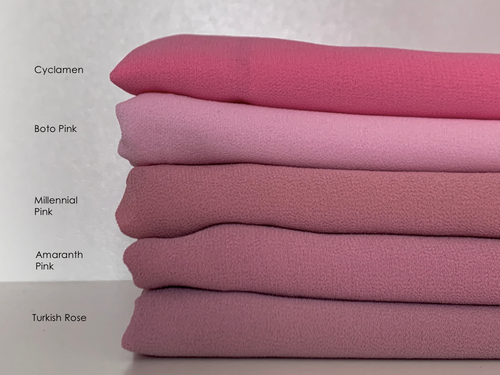 Limited Edition Plain Full-Instant Chiffon Pinks