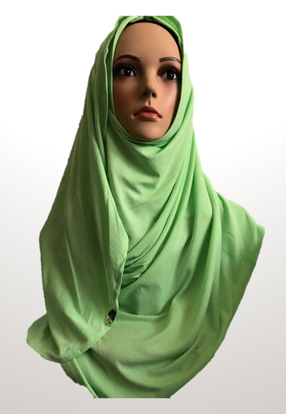 Lemon lime stretchy (COT) instant hijab CF