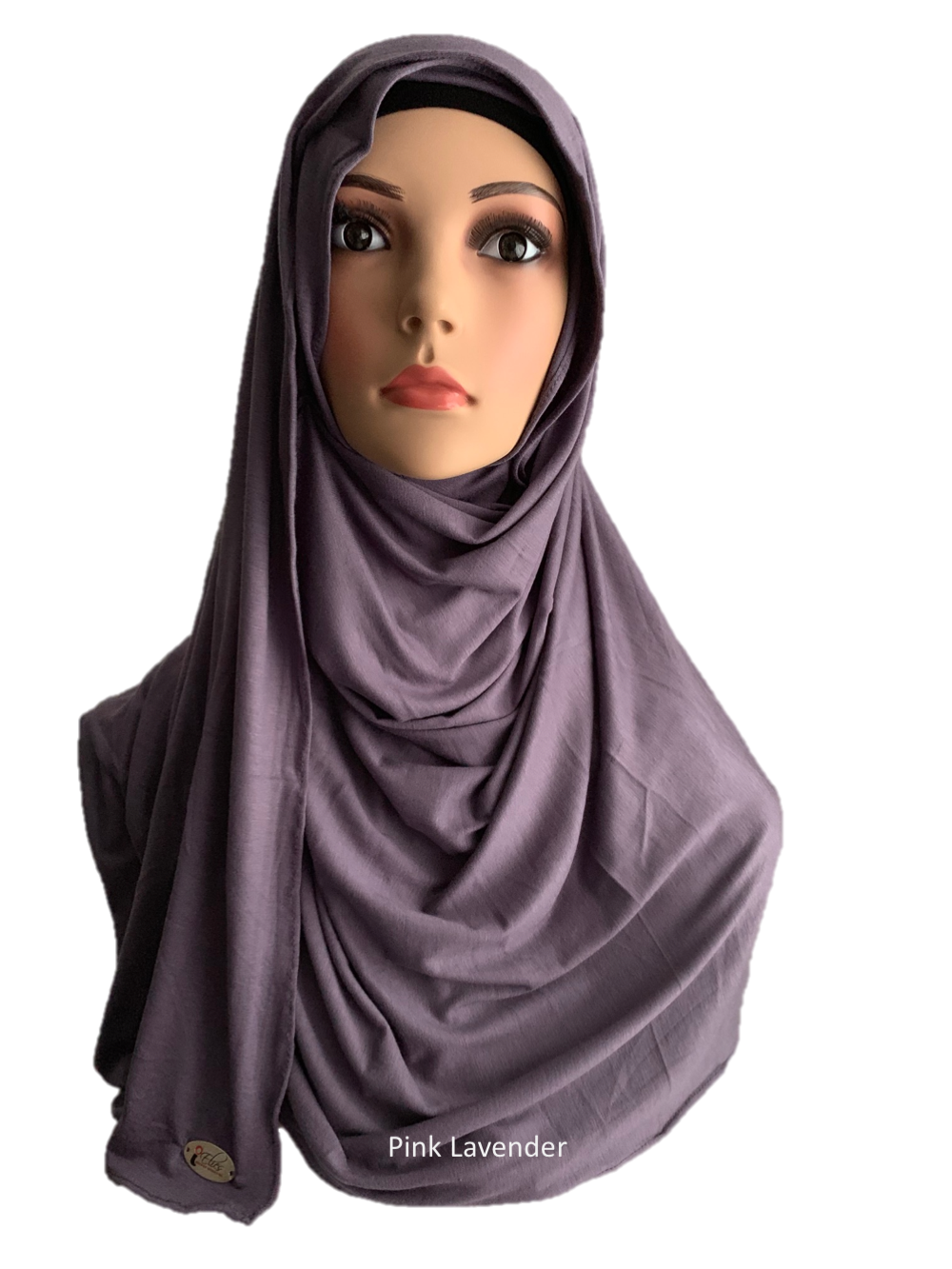 Pink Lavender stretchy (COT) instant hijab SF