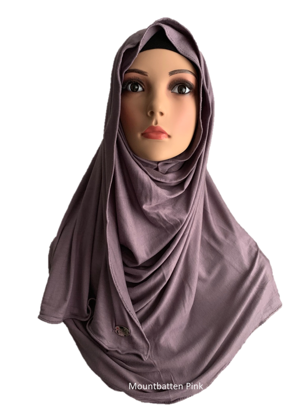 Mountbatten Pink stretchy (COT) instant hijab SF