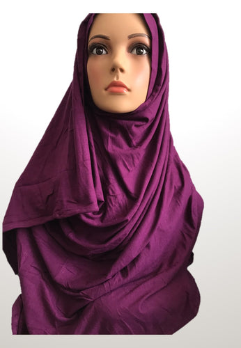 Claret stretchy (COT) instant hijab SF