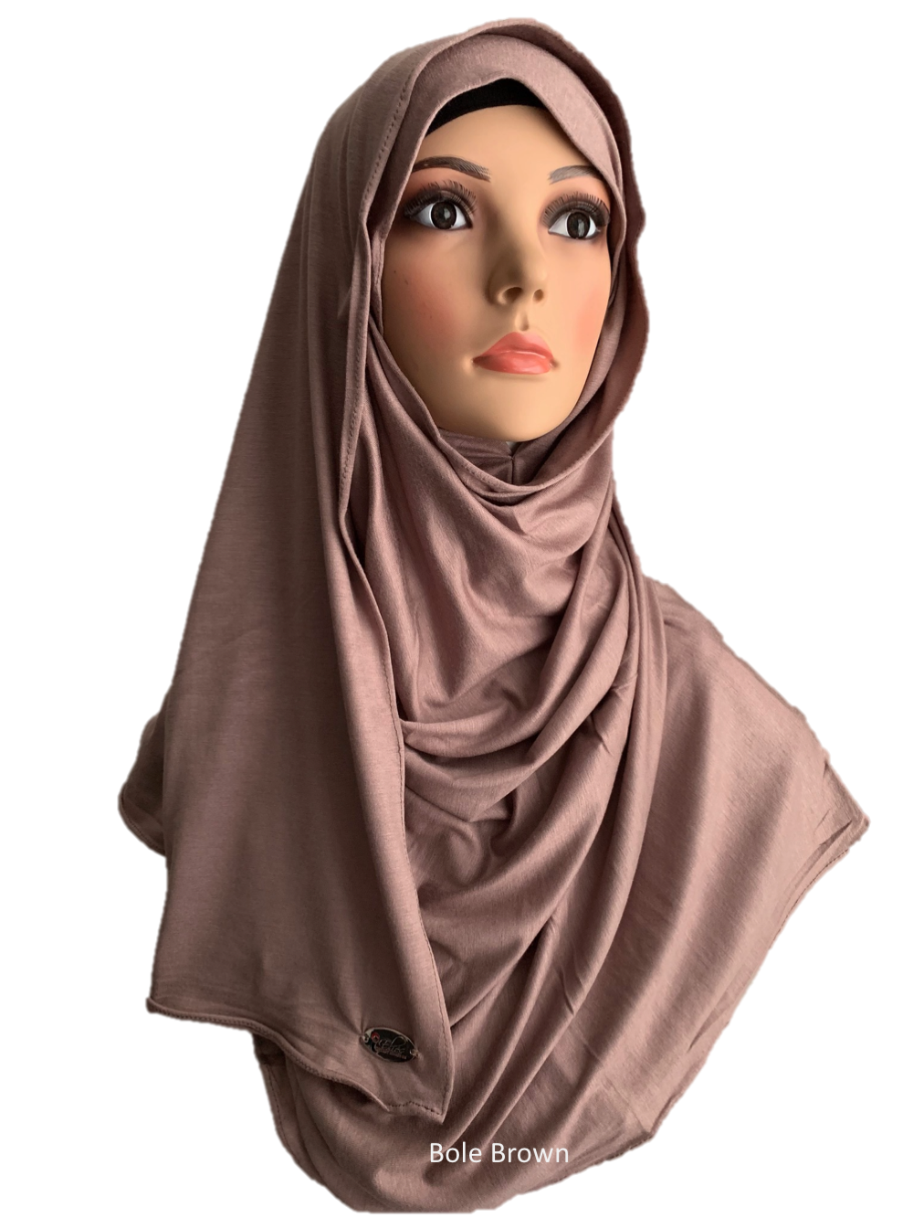 Bole Brown stretchy (COT) instant hijab SF