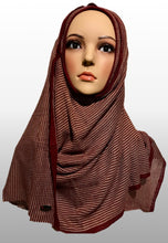 Knitted instant maroon brown LIN003
