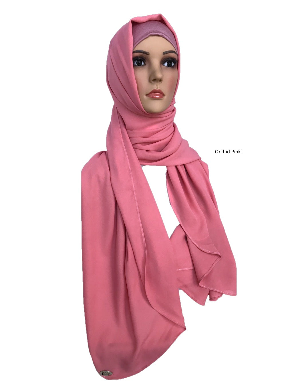 Turban Shawl in Orchid Pink