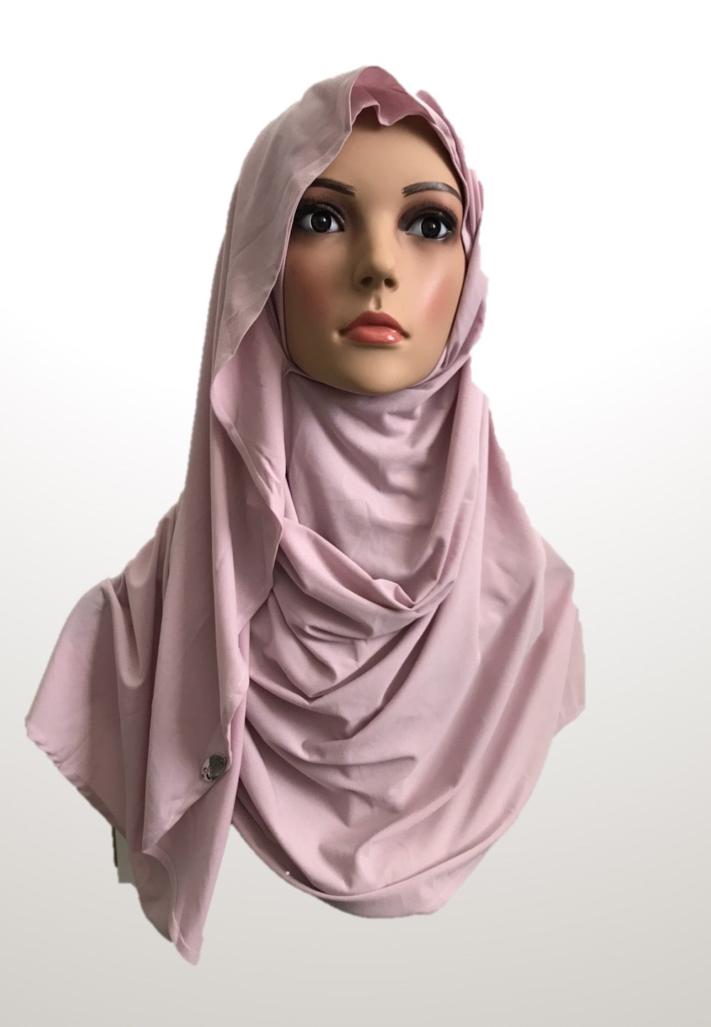 Cameo pink stretchy (KOR) instant hijab CF