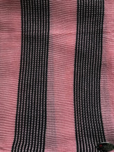Knitted instant Salmon Pink and black lines