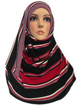 Knitted instant Black Red Pink