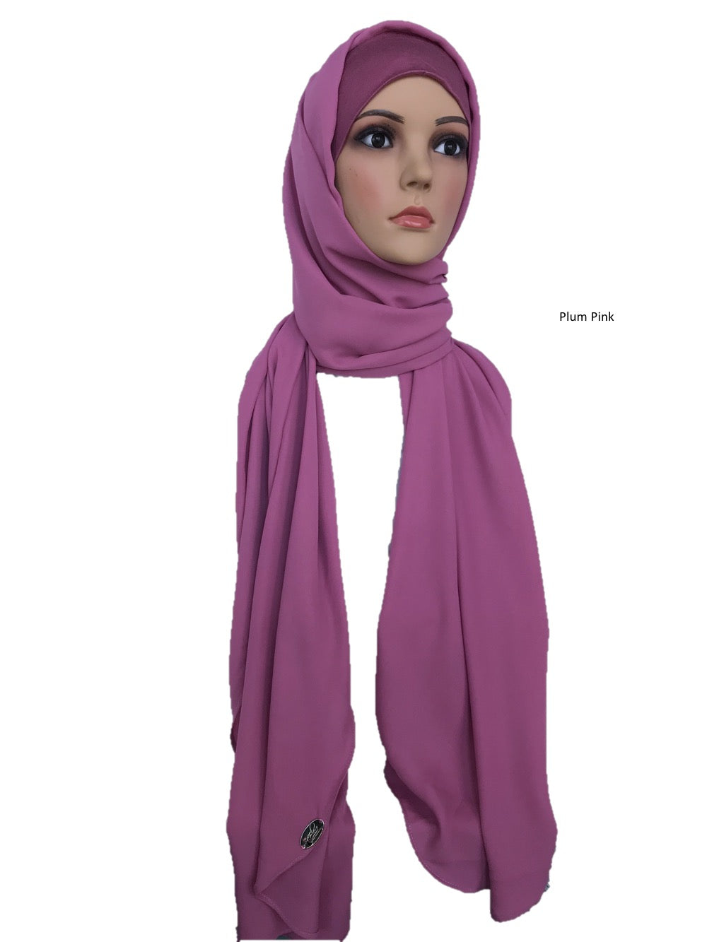 Turban Shawl in Plum Pink