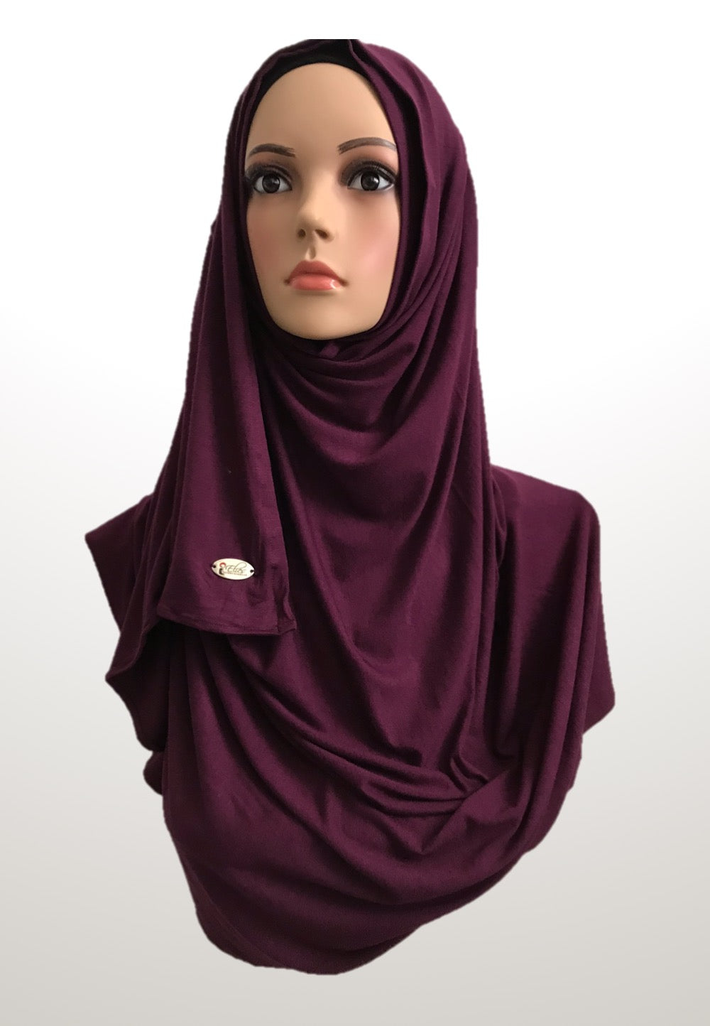 Antique Ruby stretchy (COT) instant hijab SF