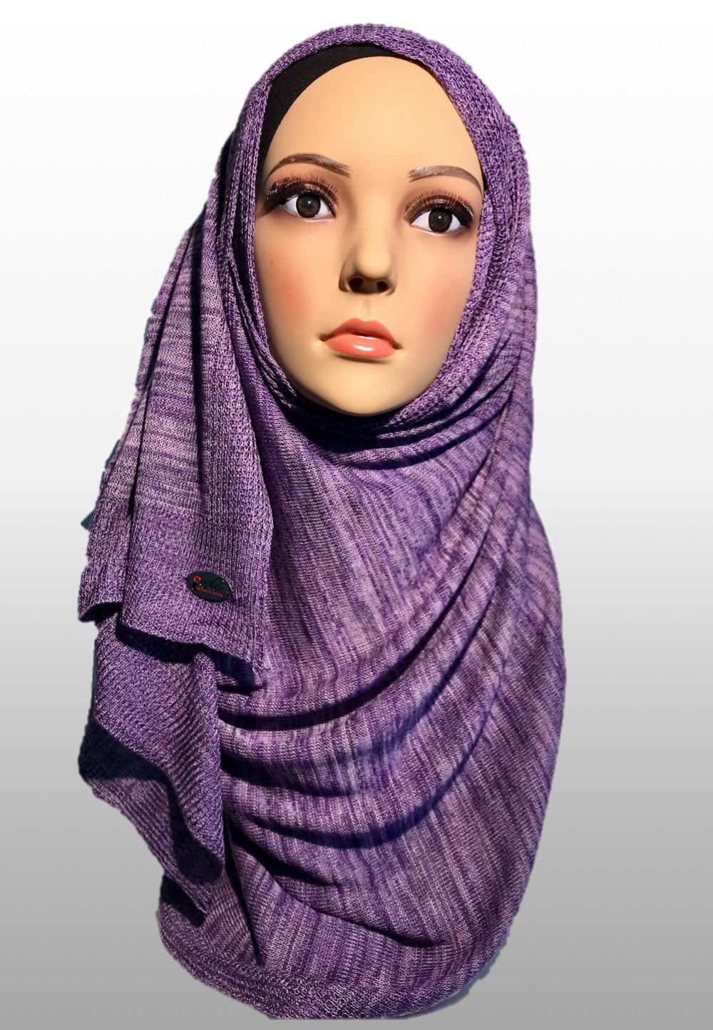 Knitted instant purple grey FUZ007
