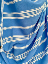 (S4LBluLn) Light blue white lines printed full-instant hijab