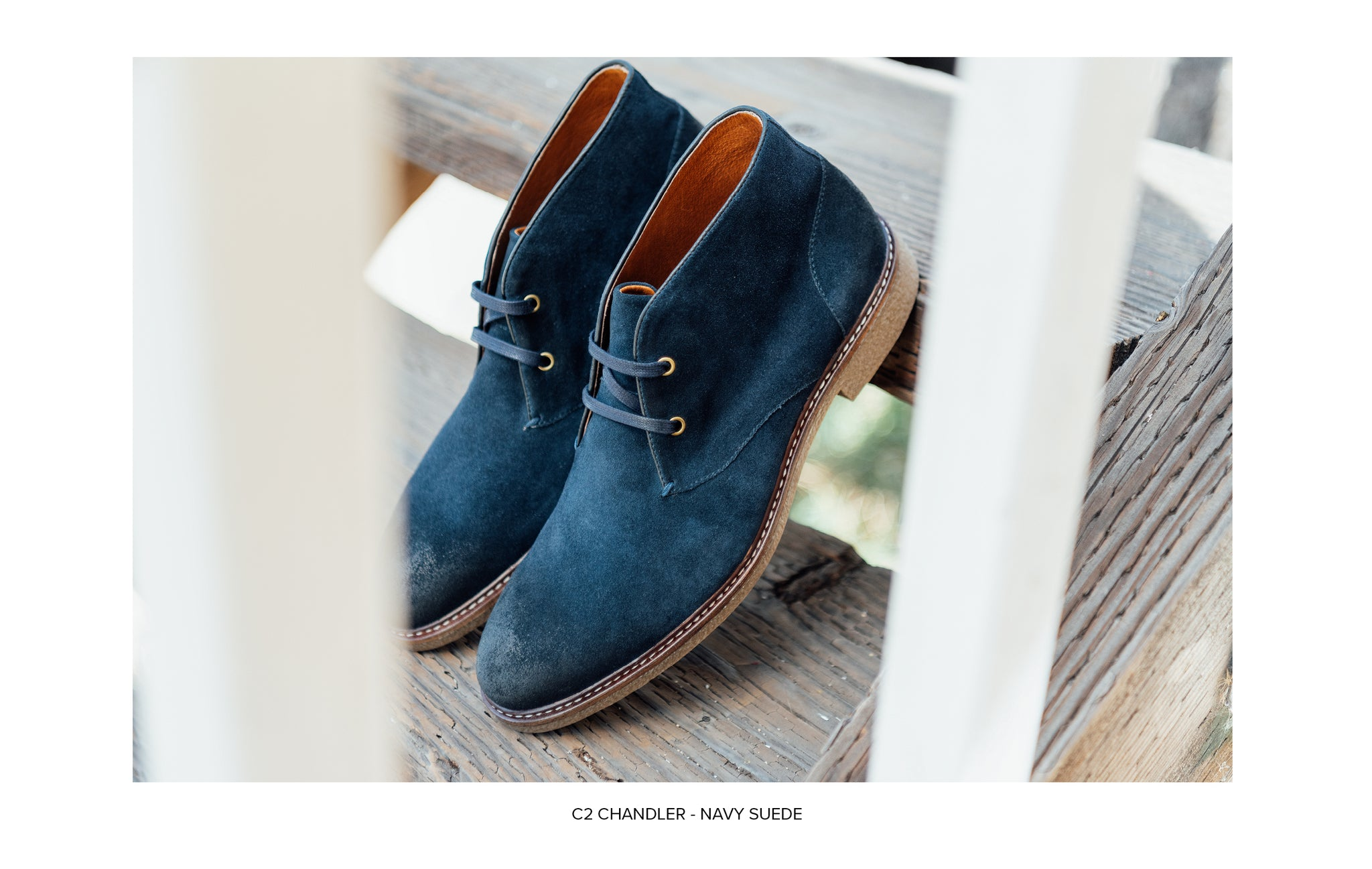 C2 Chukka Boot in Navy Suede by Blake McKay