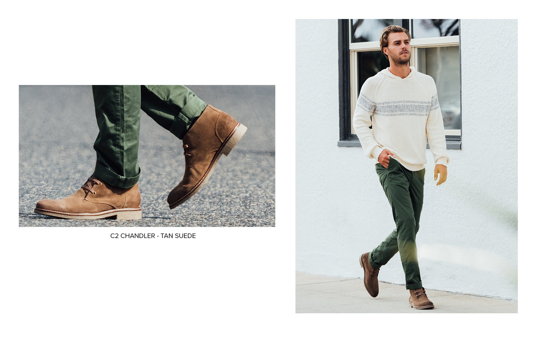 C2 Chukka Boot in Tan Suede by Blake McKay