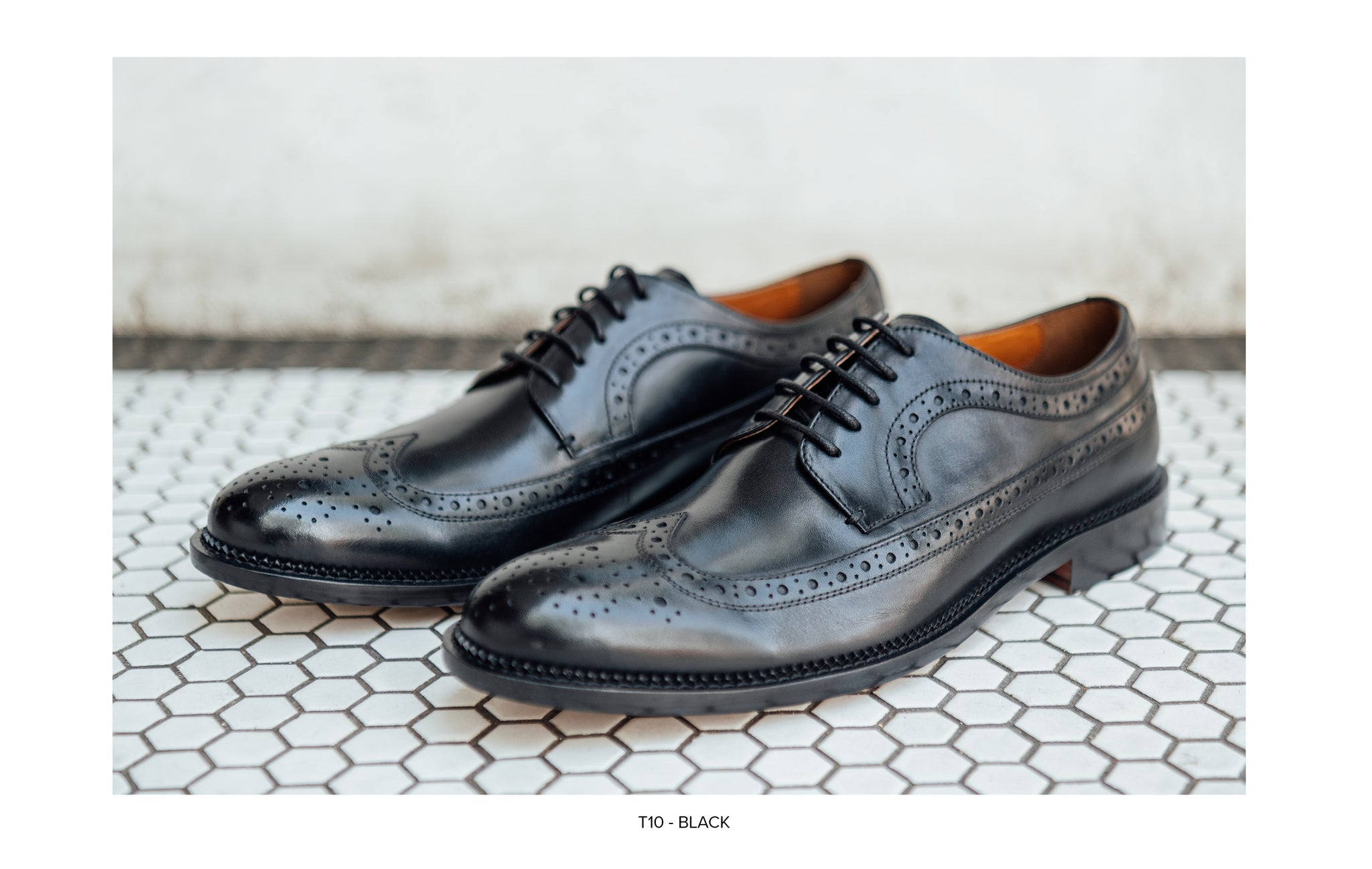 T10 Scott Lace-Up in Black by Blake McKay