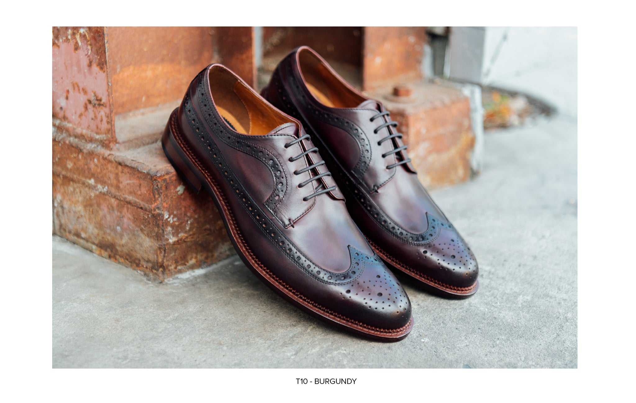 T10 Lace-Up Derby in Burgundy by Blake McKay