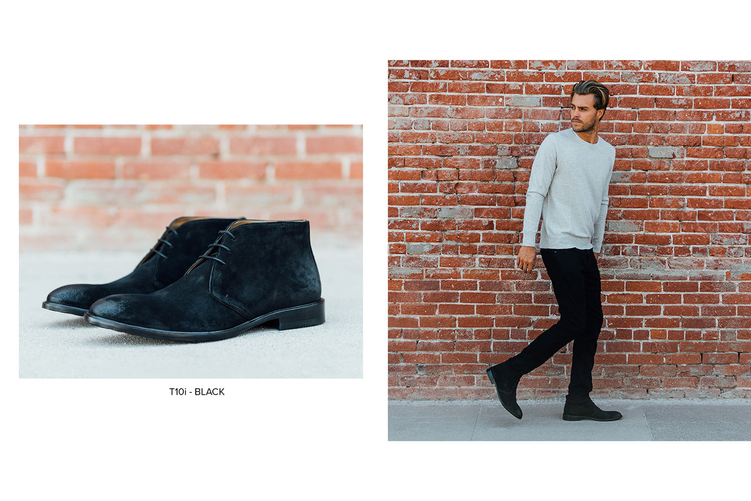 T10i Chukka Boot in black by Blake McKay