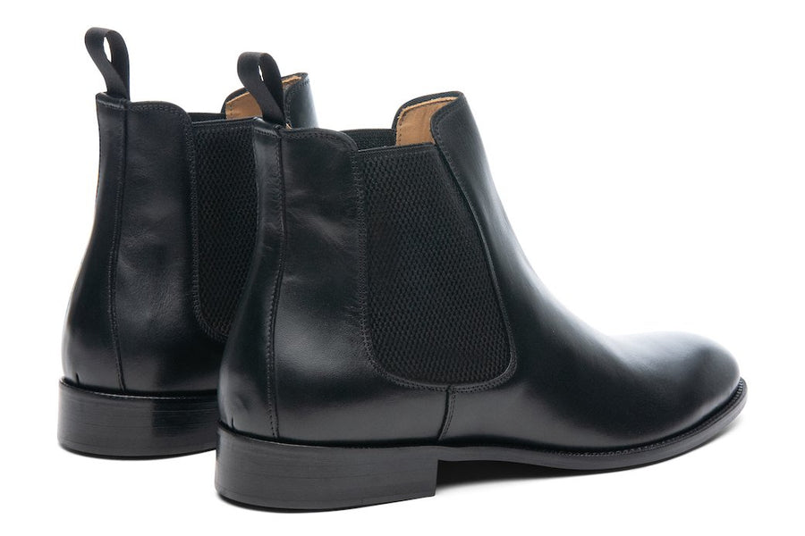 Blake McKay Castello Chelsea Boot in Black Rear View Pair