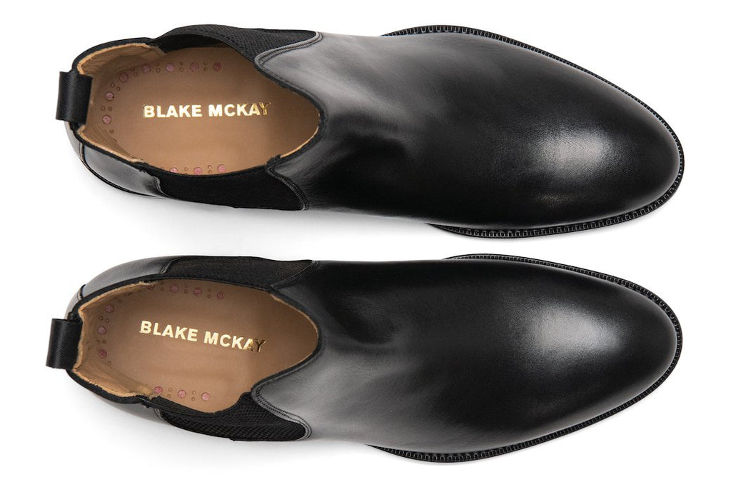Blake McKay Castello Chelsea Boot in Black Top View