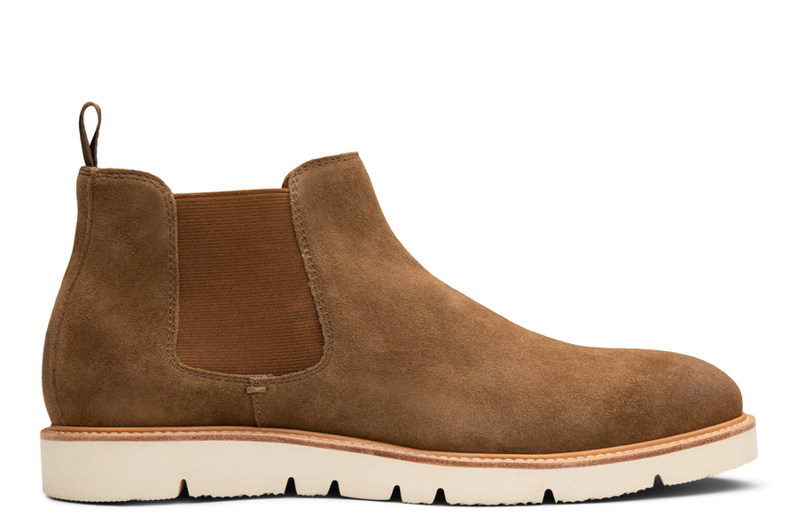 Blake McKay Dustin Hybrid Chelsea Boot in Whiskey Suede Side View