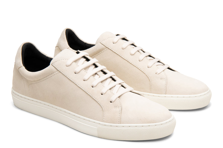 Blake McKay Jay Sneaker in Ecru Suede Side View Pair