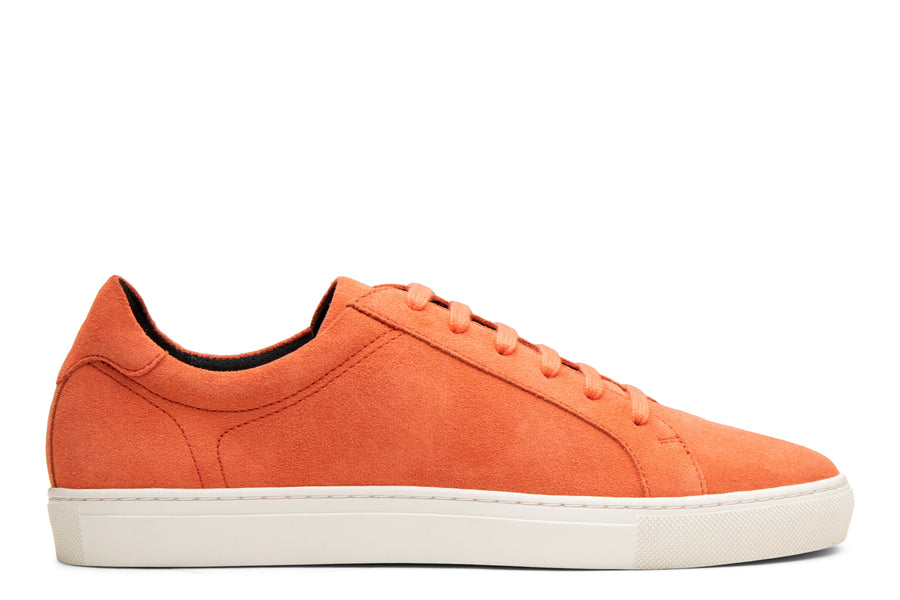 Blake McKay Jay Sneaker in Orange Suede Side View