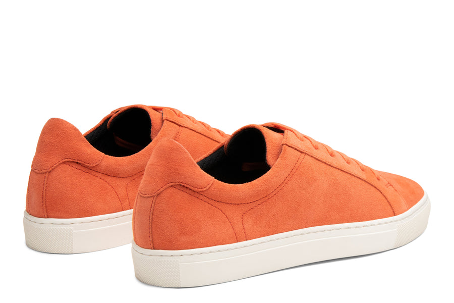 Blake McKay Jay Sneaker in Orange Suede Rear View Pair